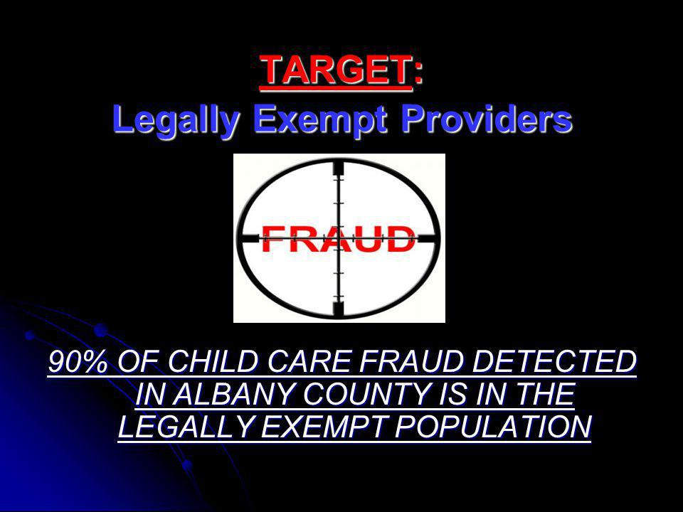 TARGET: Legally Exempt Providers