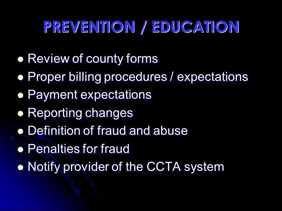 PREVENTION / EDUCATION