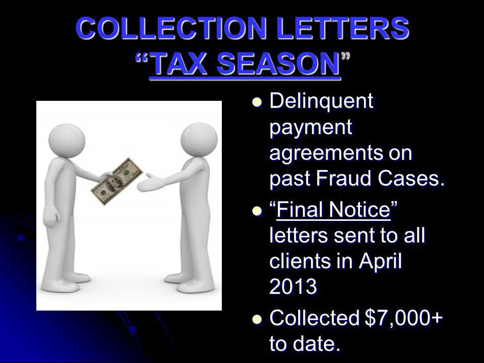 COLLECTION LETTERS TAX SEASON