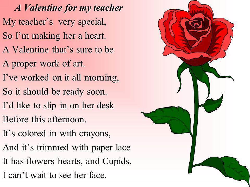 A Valentine for my teacher