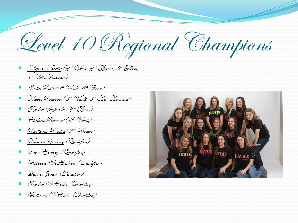 Level 10 Regional Champions