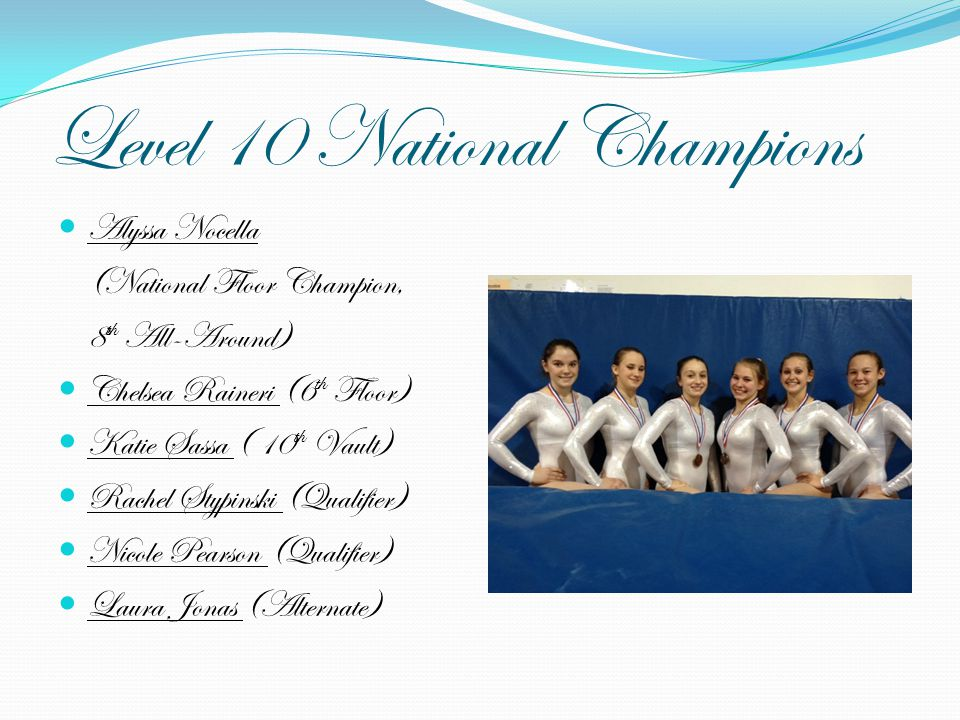 Level 10 National Champions