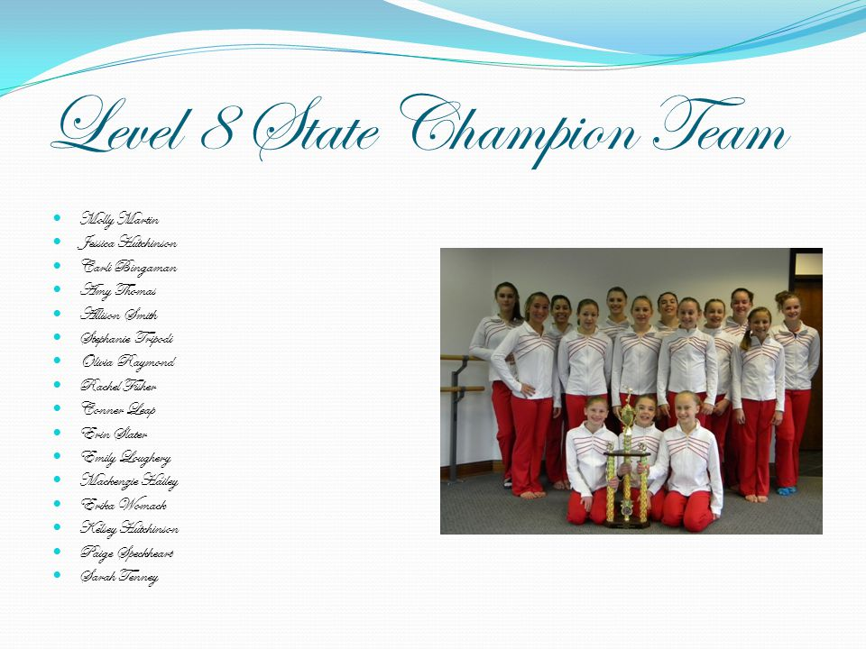 Level 8 State Champion Team