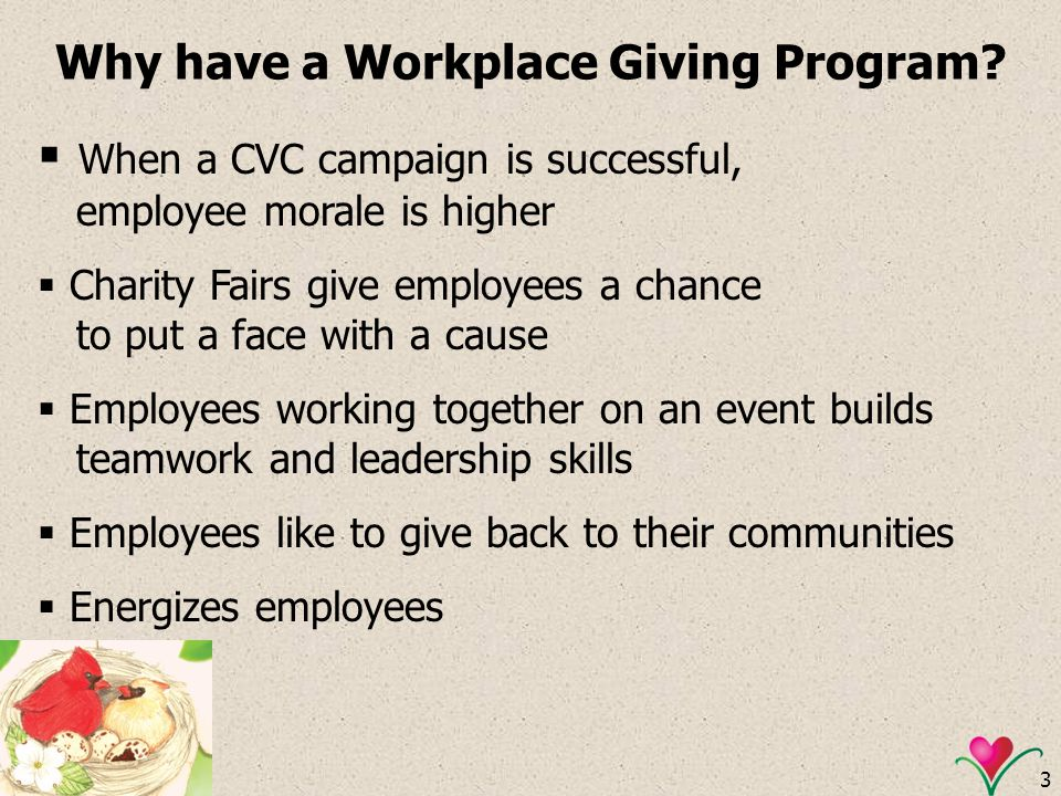 Why have a Workplace Giving Program