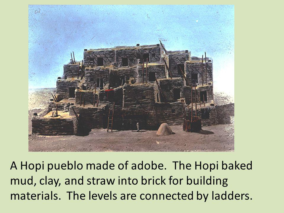 A Hopi pueblo made of adobe