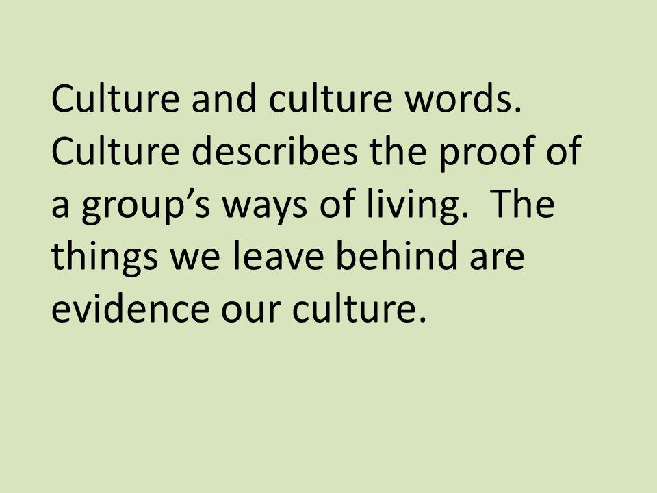 Culture and culture words