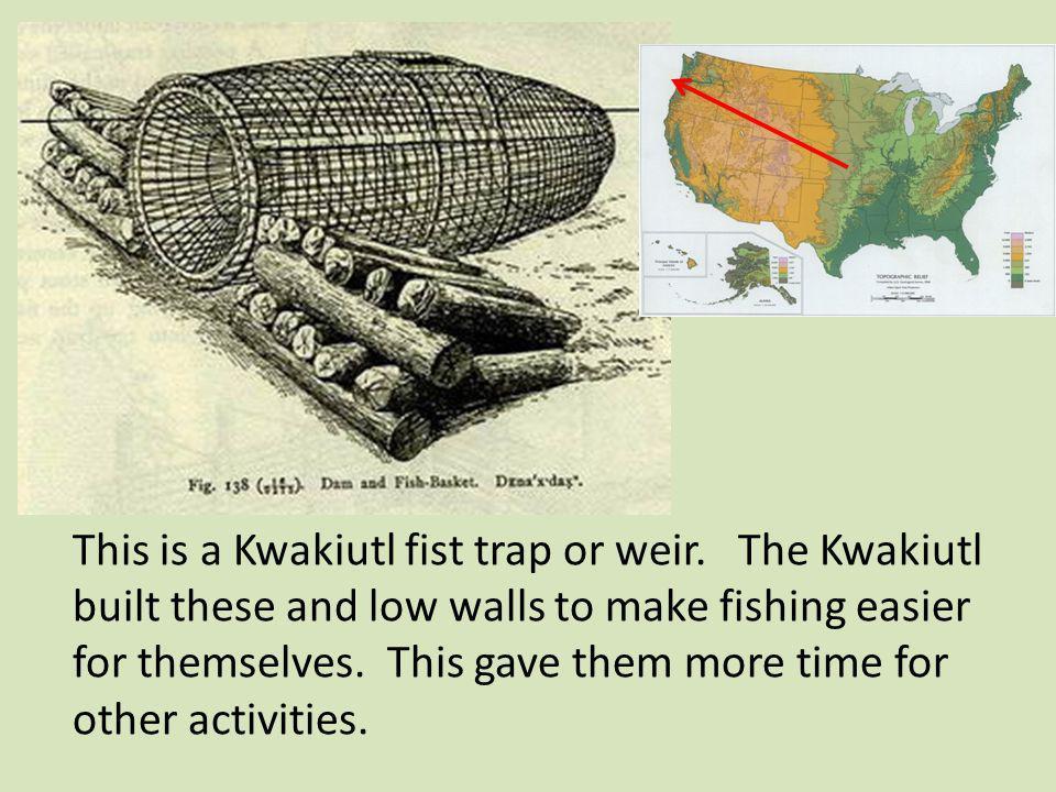 This is a Kwakiutl fist trap or weir