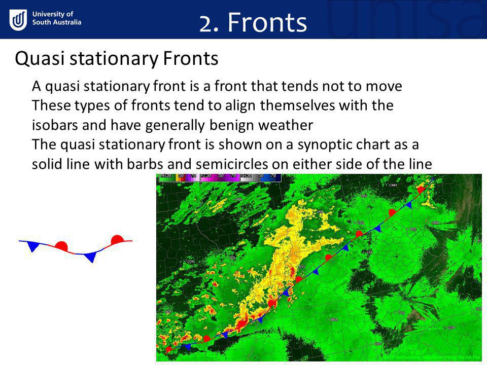 2. Fronts Quasi stationary Fronts