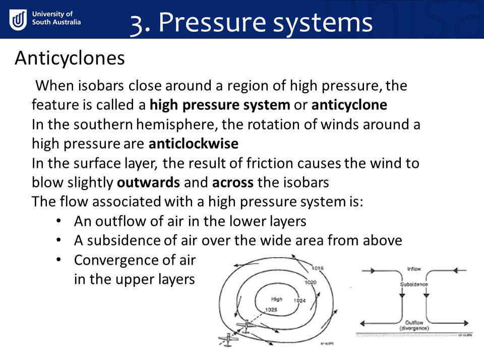 3. Pressure systems Anticyclones