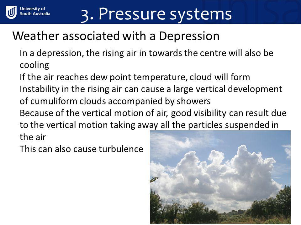 3. Pressure systems Weather associated with a Depression