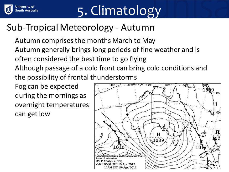 5. Climatology Sub-Tropical Meteorology - Autumn