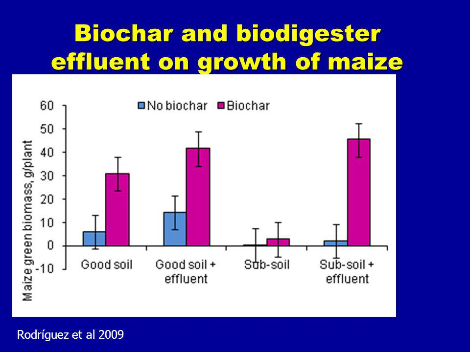 Biochar and biodigester effluent on growth of maize