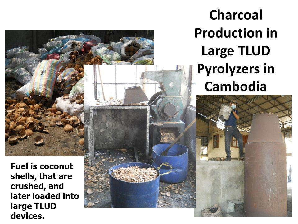Charcoal Production in Large TLUD Pyrolyzers in Cambodia