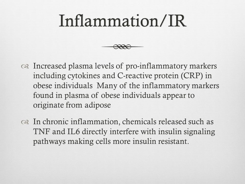 Inflammation/IR