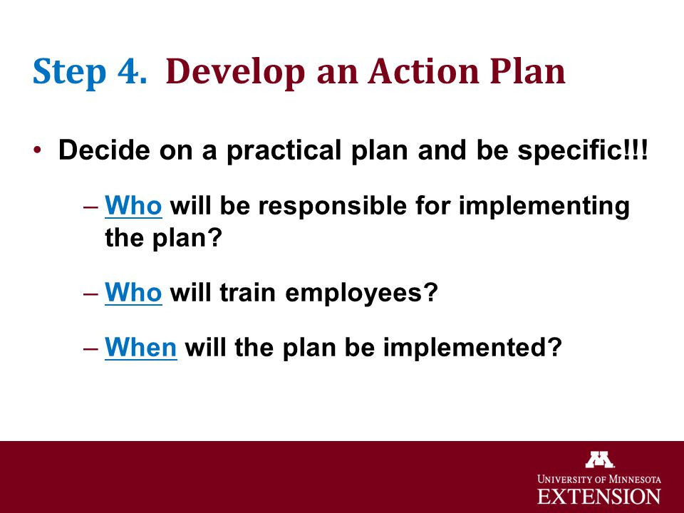 Step 4. Develop an Action Plan