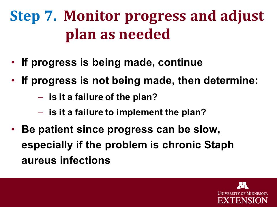 Step 7. Monitor progress and adjust plan as needed