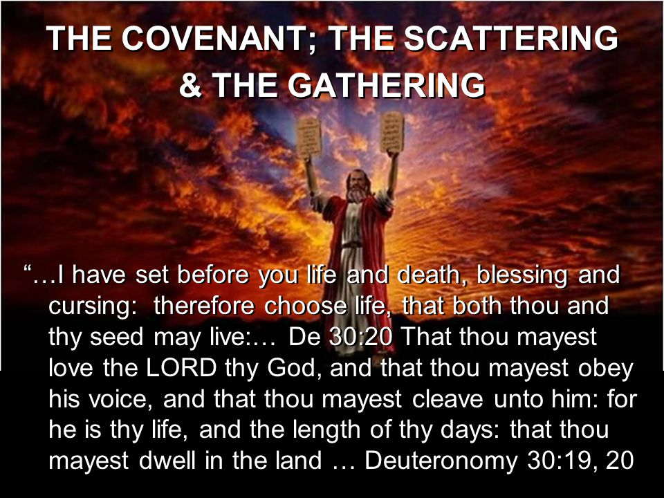 THE COVENANT; THE SCATTERING & THE GATHERING