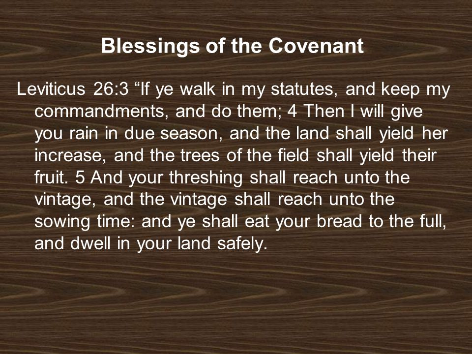 Blessings of the Covenant