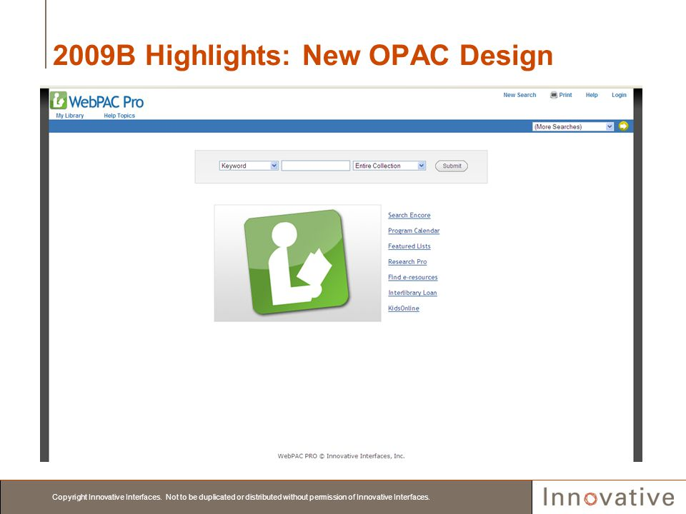 2009B Highlights: New OPAC Design