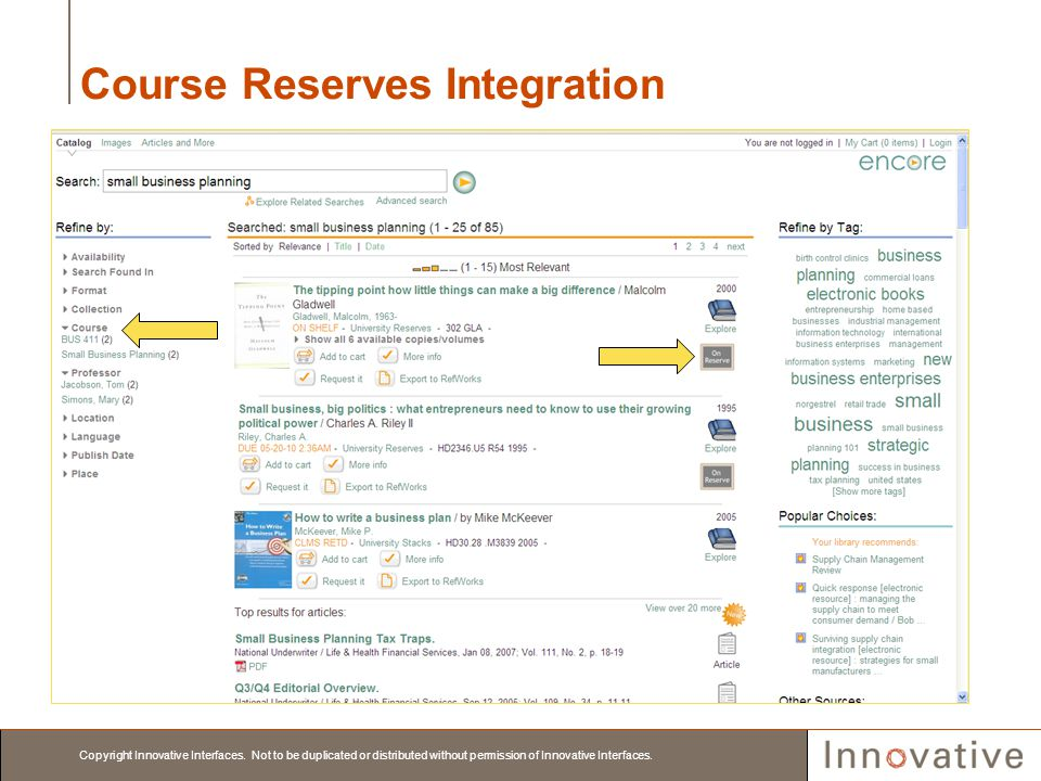 Course Reserves Integration