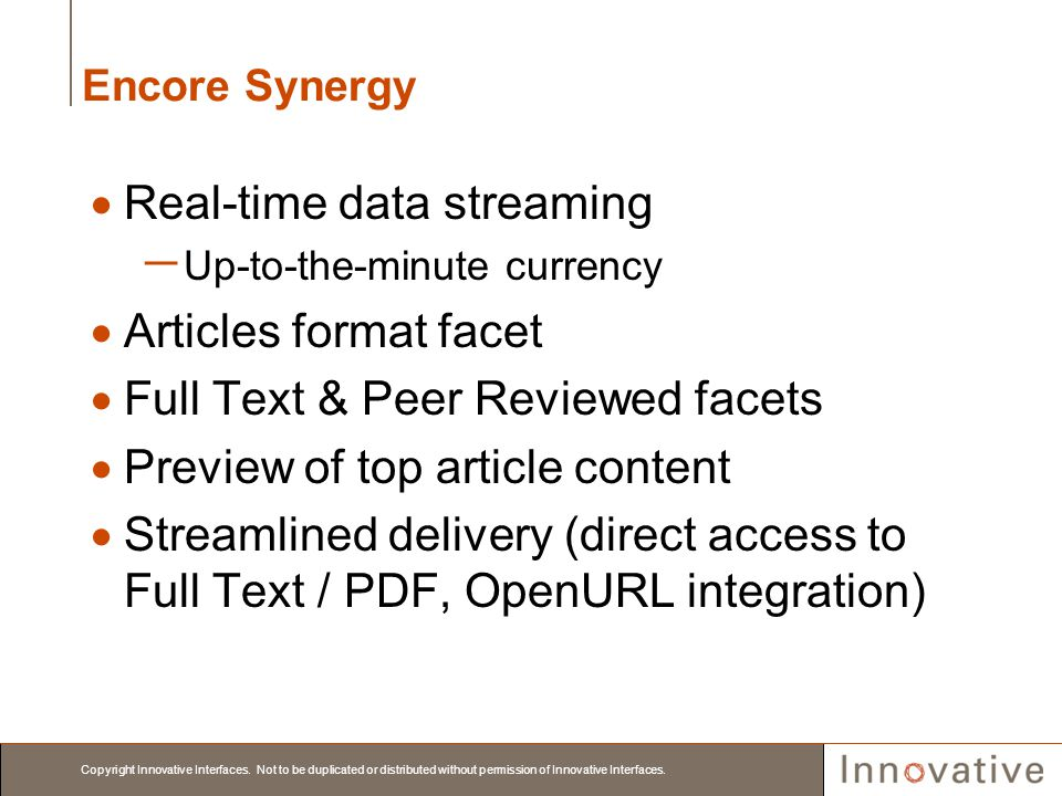 Real-time data streaming Articles format facet