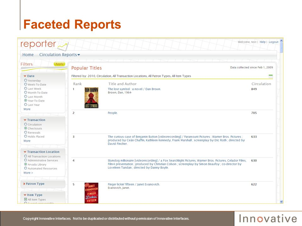 Faceted Reports