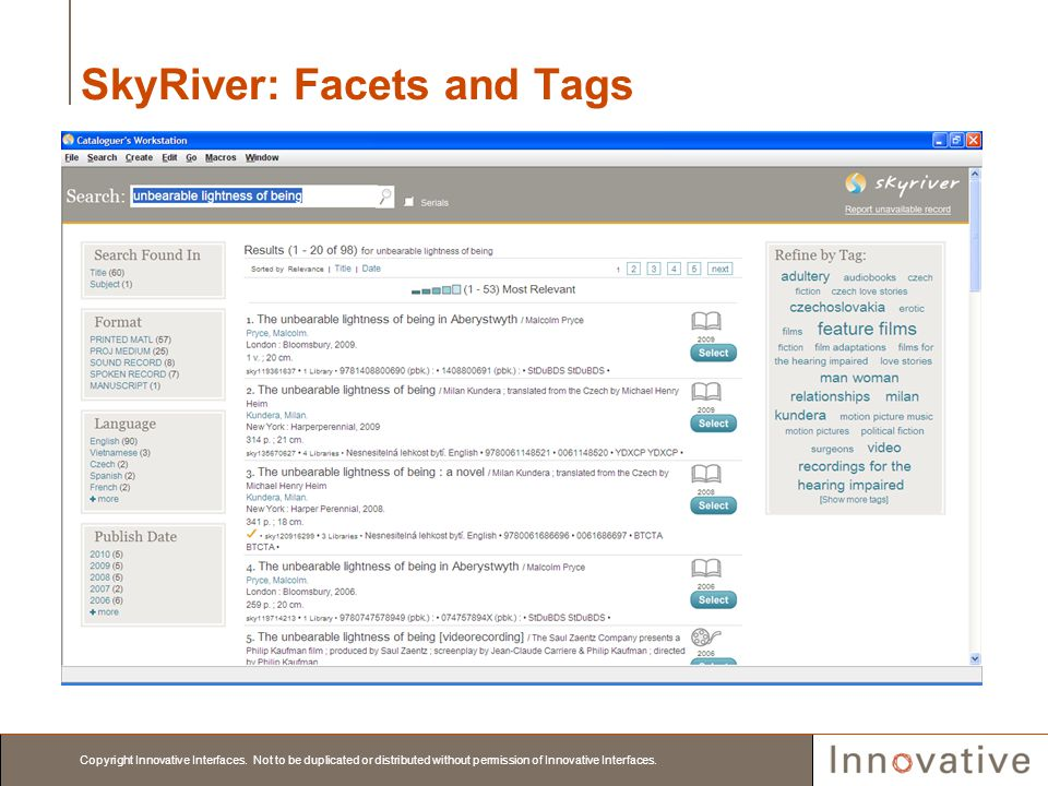 SkyRiver: Facets and Tags