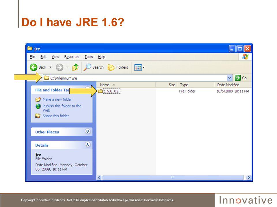 Do I have JRE 1.6
