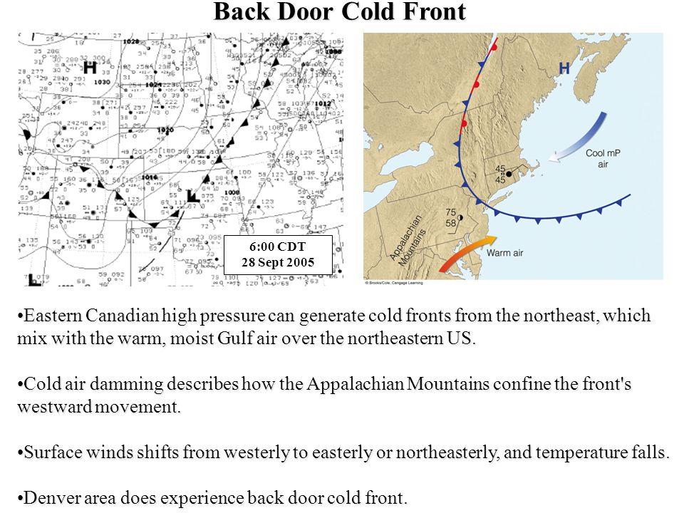 Back Door Cold Front 6:00 CDT 28 Sept 2005.