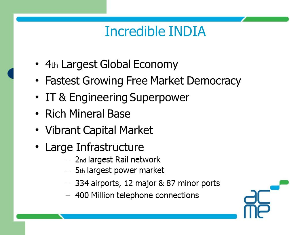 Incredible INDIA • 4th Largest Global Economy