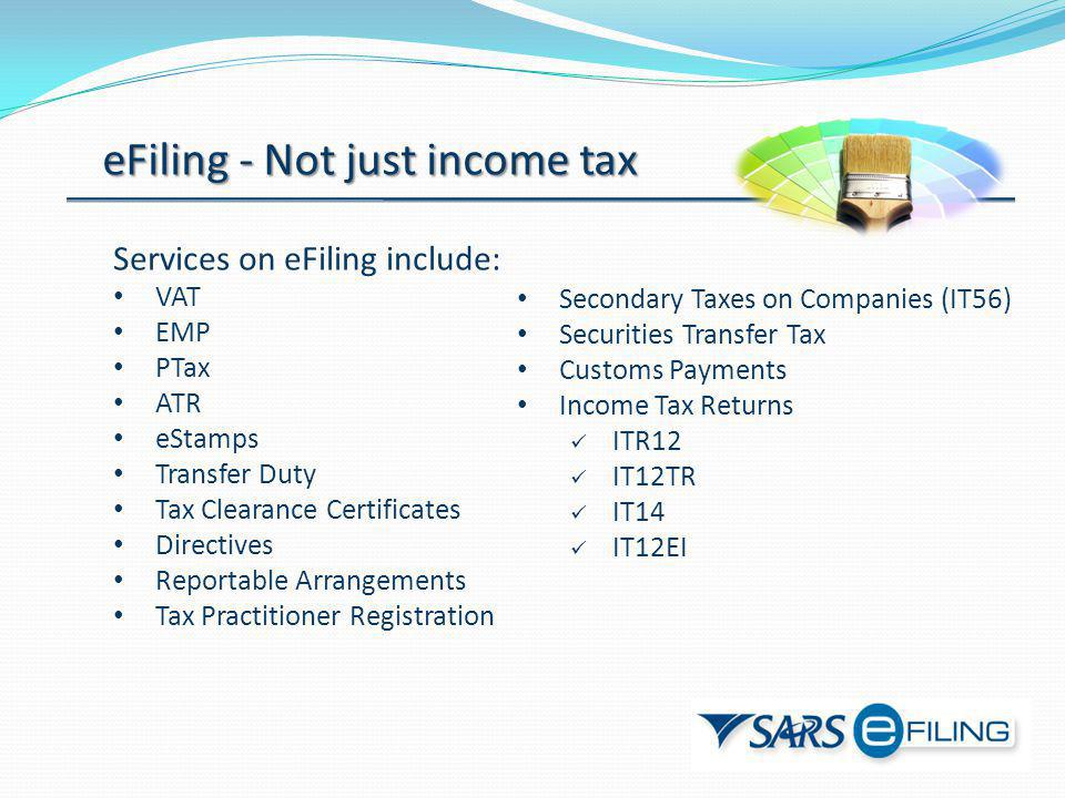 eFiling - Not just income tax