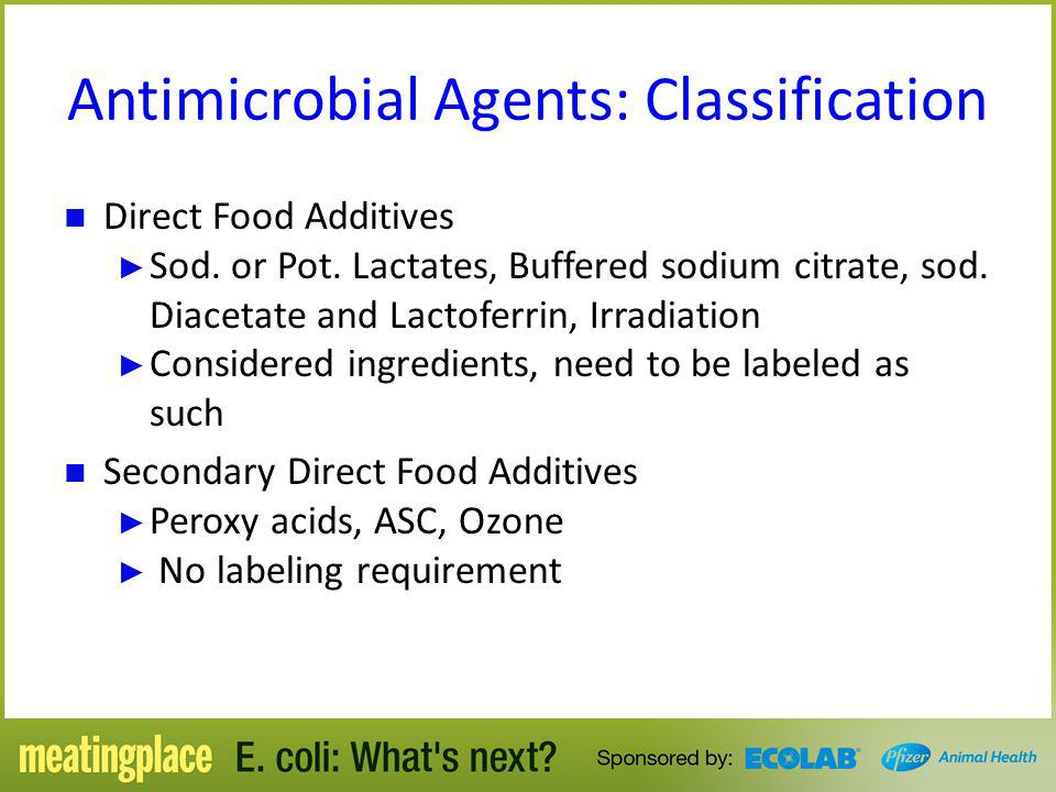 Antimicrobial Agents: Classification