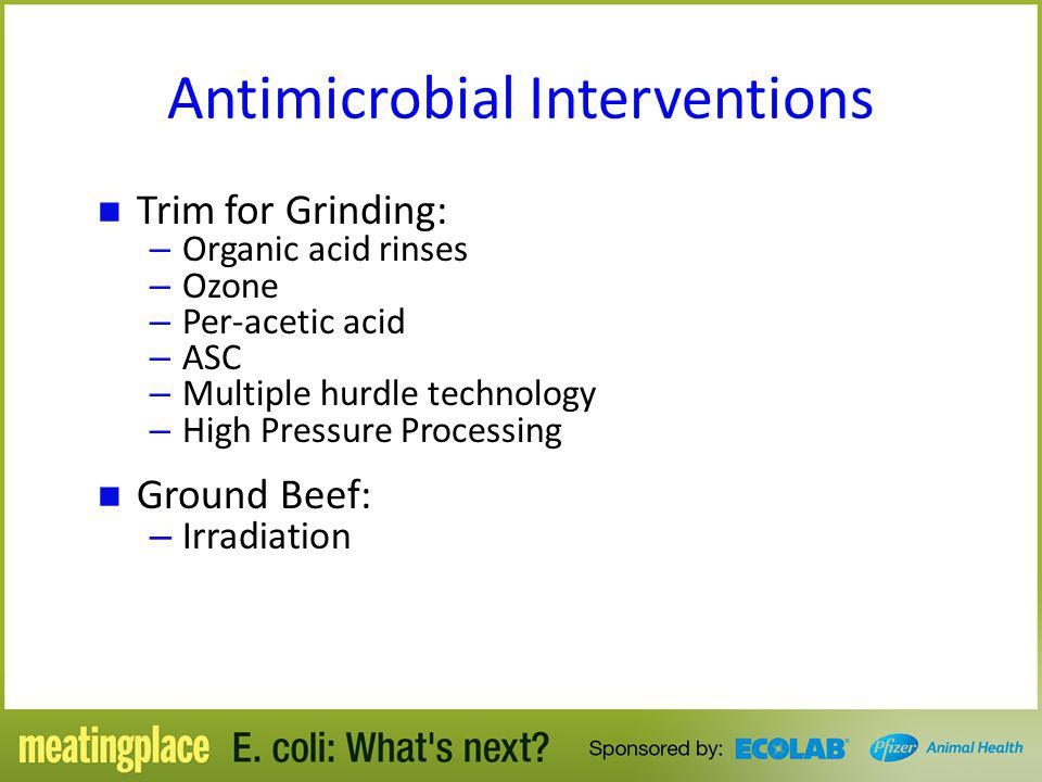 Antimicrobial Interventions