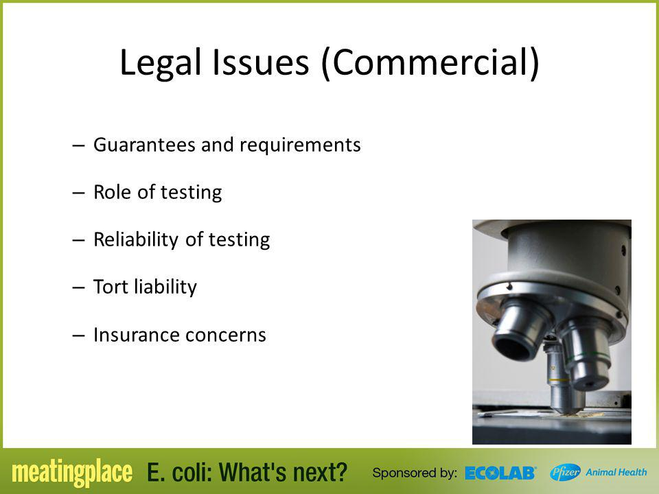 Legal Issues (Commercial)