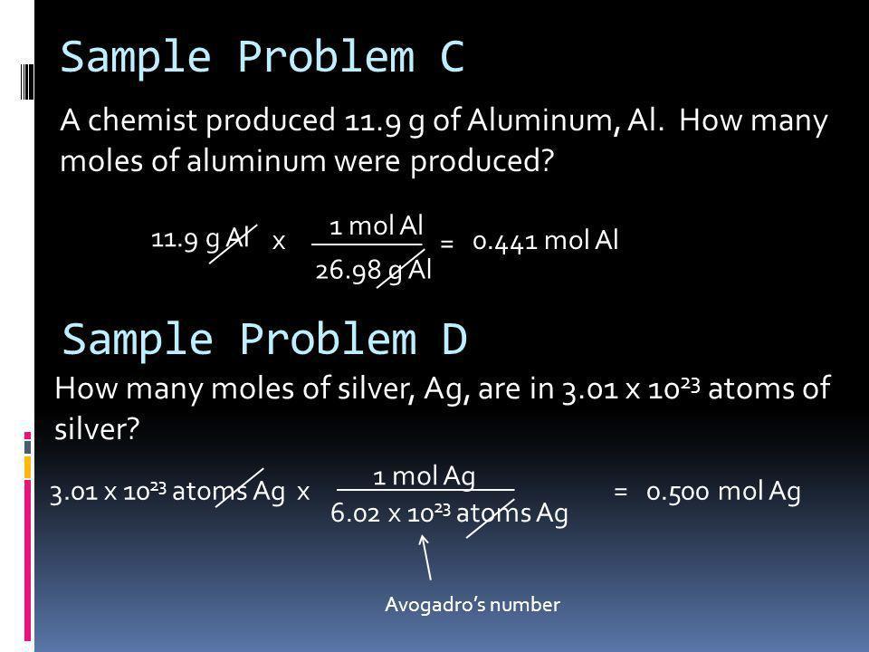 Sample Problem C Sample Problem D