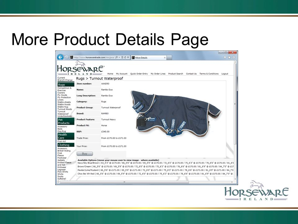 More Product Details Page