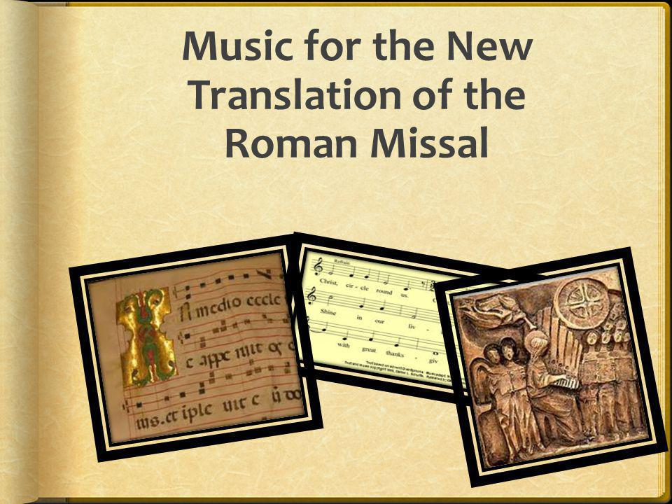 Music for the New Translation of the Roman Missal