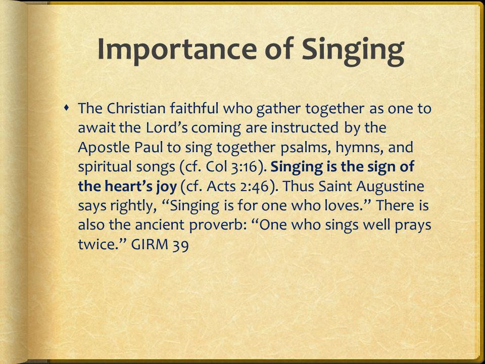 Importance of Singing