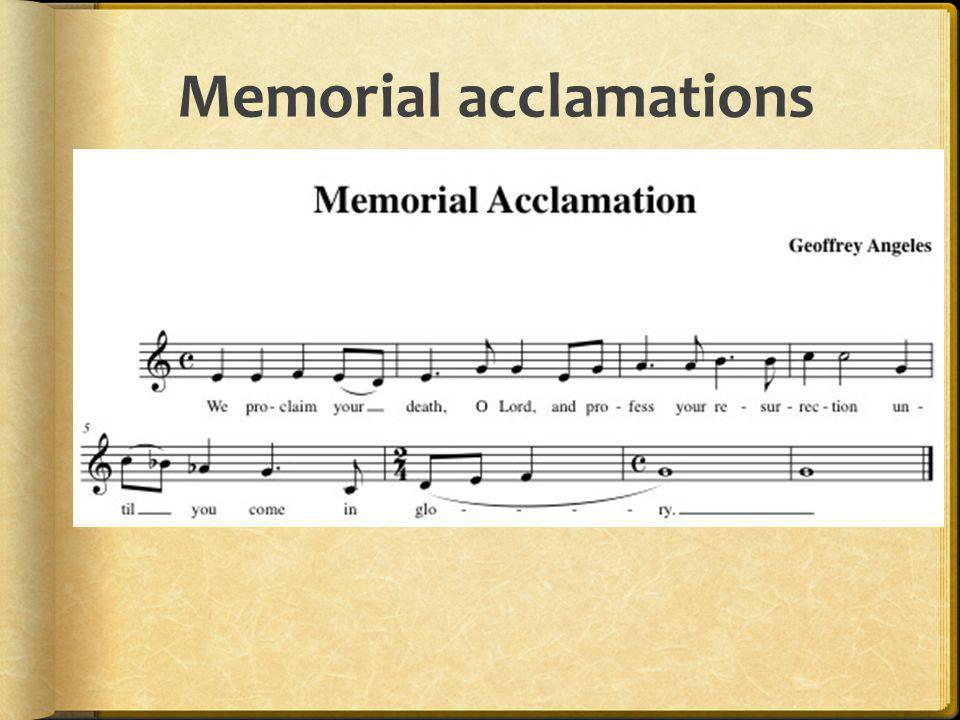 Memorial acclamations