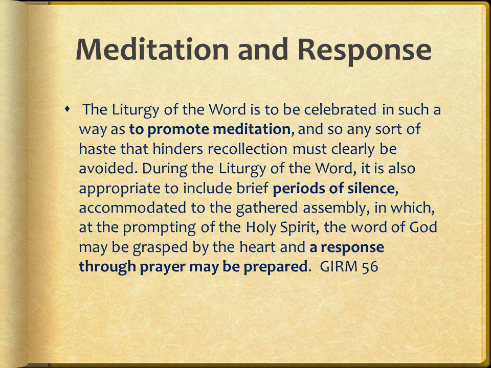 Meditation and Response