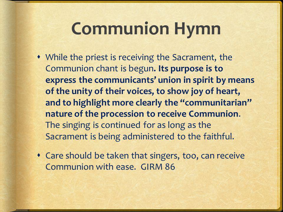 Communion Hymn