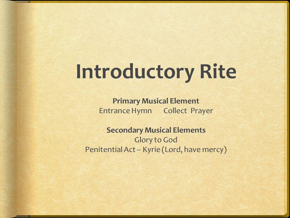 Primary Musical Element Secondary Musical Elements
