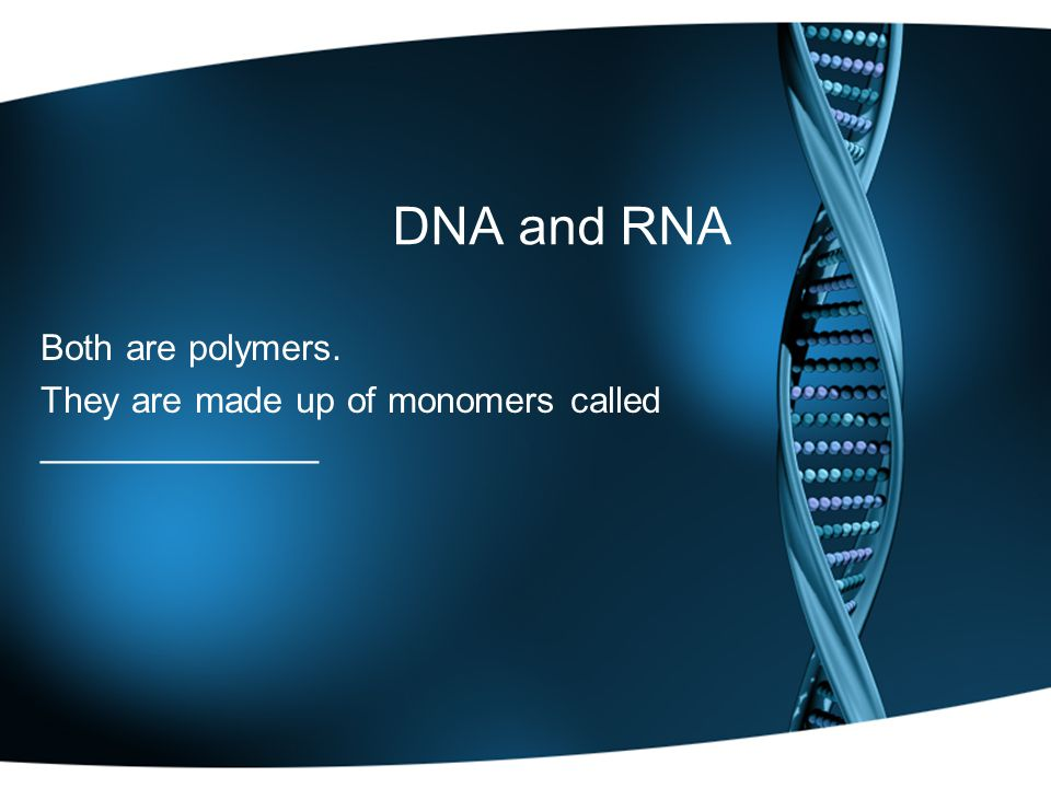 Both are polymers. They are made up of monomers called ______________