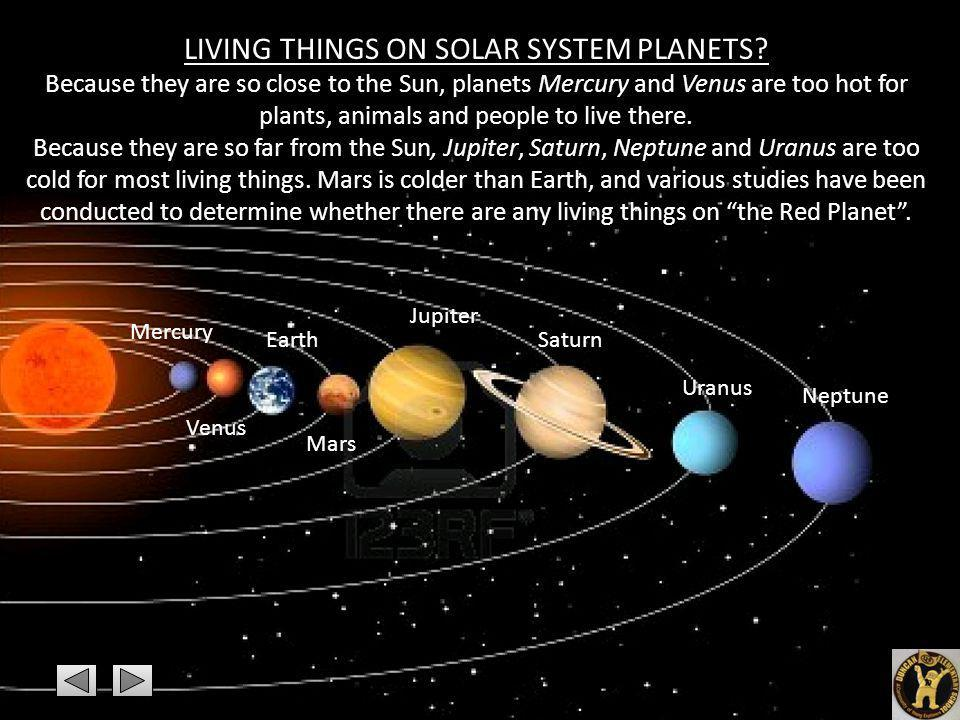 LIVING THINGS ON SOLAR SYSTEM PLANETS