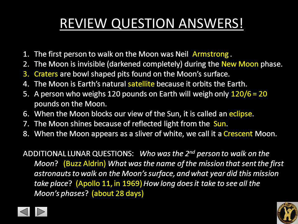 REVIEW QUESTION ANSWERS!