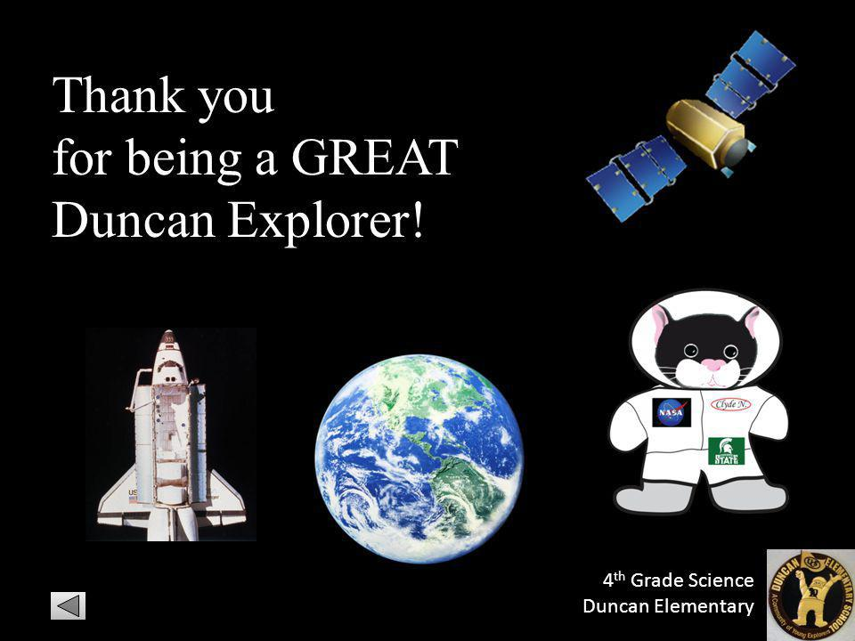 for being a GREAT Duncan Explorer!