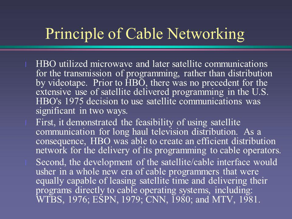 Principle of Cable Networking