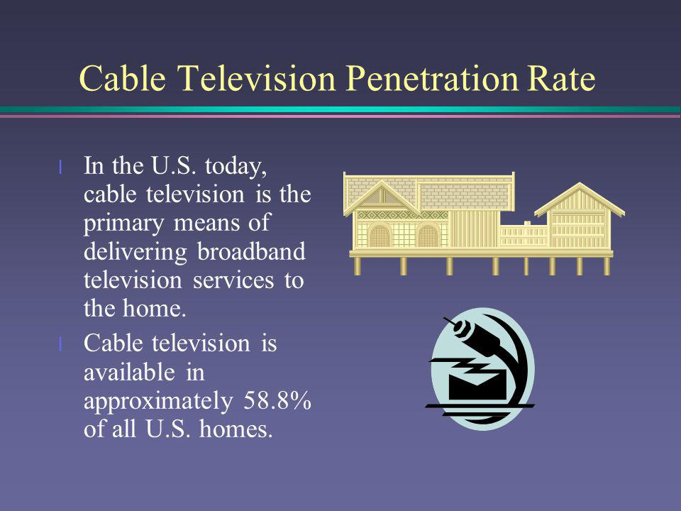 Cable Television Penetration Rate