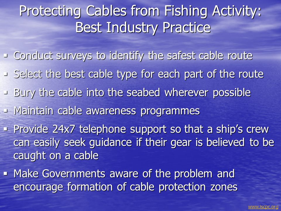 Protecting Cables from Fishing Activity: Best Industry Practice