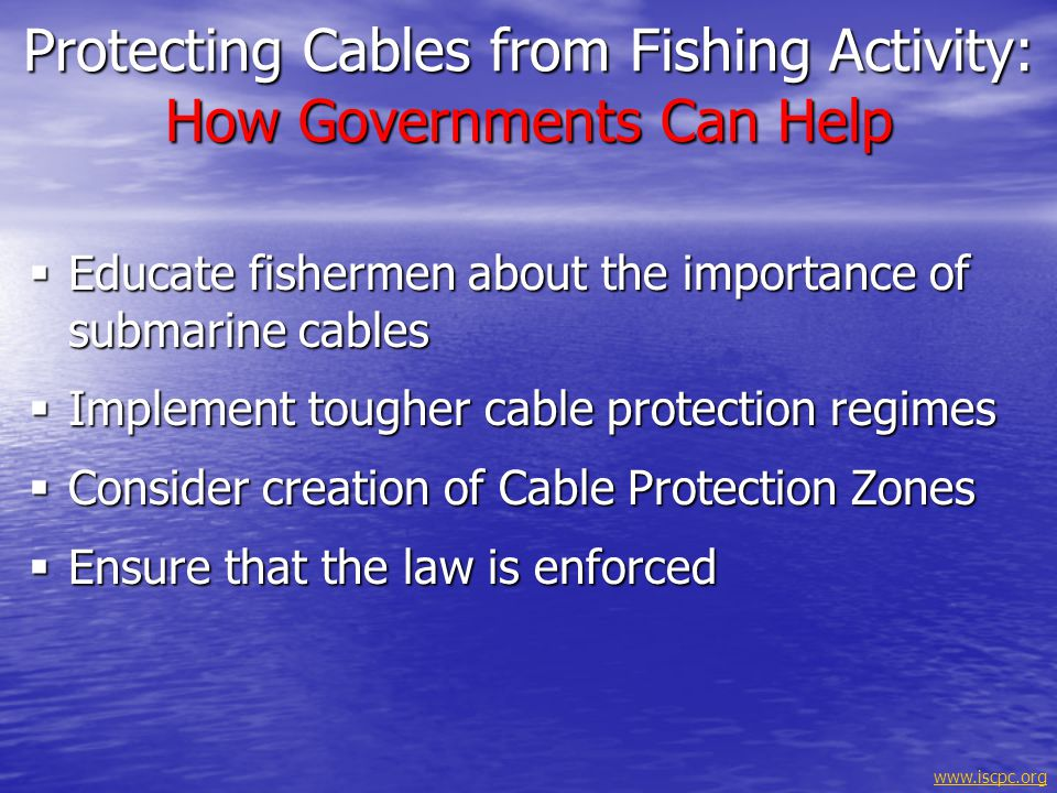 Protecting Cables from Fishing Activity: How Governments Can Help